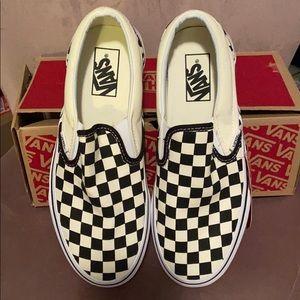 NWT black and white checkered vans